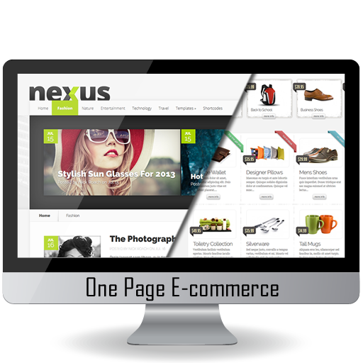 One Page Website & Shop – 1 pages + 2 items